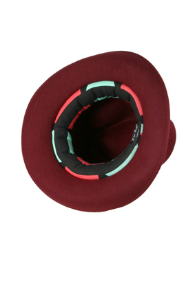 A Child of the Jago Hats Hat Deadman hat in red burgundy view 3