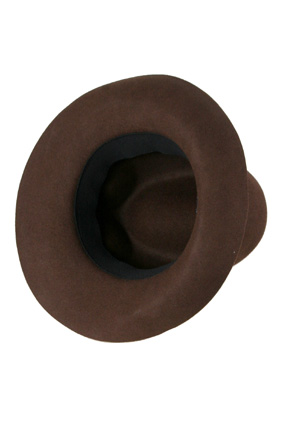A Child of the Jago Hats Hat The Highpad hat in brown burgundy. view 3