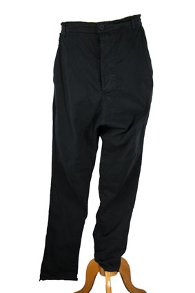 Pal Offner Trousers Black low drop crotch trousers view 1