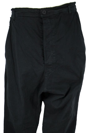 Pal Offner Trousers Black low drop crotch trousers view 2