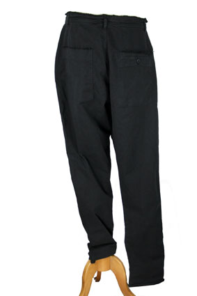 Pal Offner Trousers Black low drop crotch trousers view 3