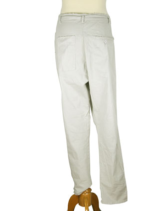 Pal Offner Trousers Grey low drop crotch trousers view 3