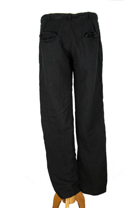 Pal Offner Trousers Black linen trousers view 3