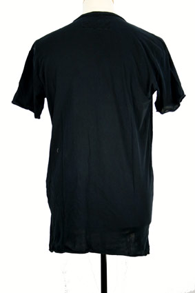 Rundholz T Shirt Over-dyed stretch 'navy gum' t-shirt view 3