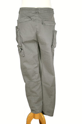 Rundholz Trousers Over-dyed, lowish-crotch, trousers in smoked grey view 3