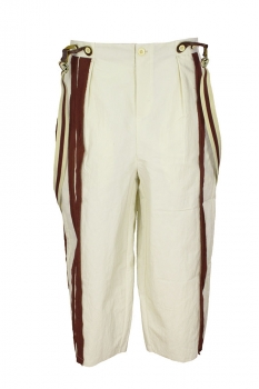 Aleksandr Manamis Cream Trousers