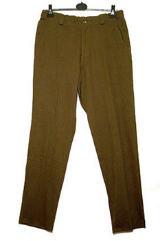 Corniche Own Label Moleskin style fabric trousers