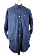 Nigel Cabourn 'Big Shirt with Pockets' in Black Navy