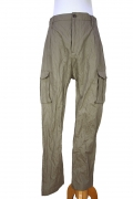Novemb3r Army Olive coloured cotton and metal mixed fabric 'Saffron' trousers