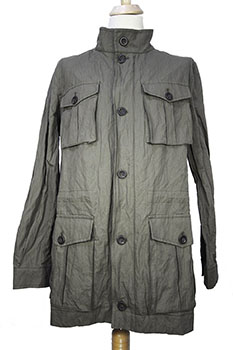 Novemb3r Sage military style parka in an amazing cotton and metal fabric