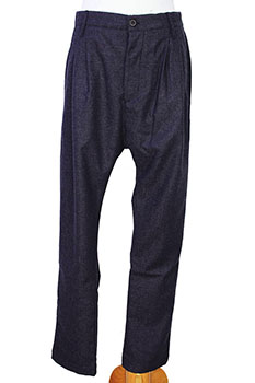 Novemb3r Double pleated trousers charcoal grey
