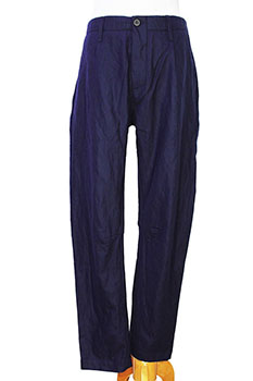 Novemb3r Straight legged, single pleat trousers in blue night colour