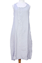 Pal Offner Smoke colour, asymmetric, sleeveless 'Trench Dress'