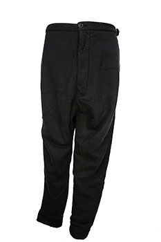 Rundholz Heavy-duty fabric, low crotch trousers in black cloud colour