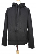 Rundholz Heavy-duty sweat style fabric, hooded zip jacket in black cloud colour