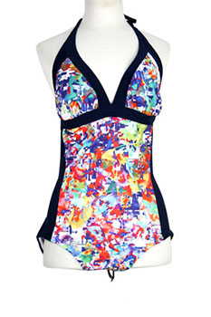 High Mixed Colours Swimsuit