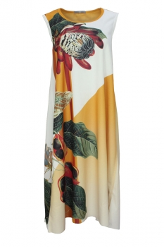High Mixed Print Colours Dress