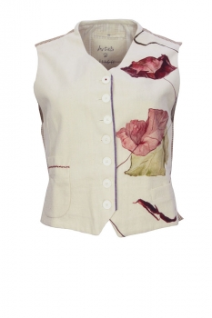 High Mixed Print Colours Waistcoat