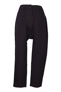 Ivan Grundahl 'Each Pant' low crotch trousers in textured black fabric