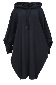 Nostrasantissima Black Hooded Top