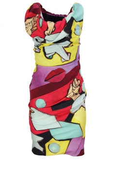 Vivienne Westwood Mixed Print Colours Mini Ginnie Dress