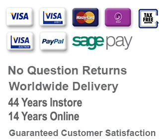Worldwide delivery secure payment by Sagepay