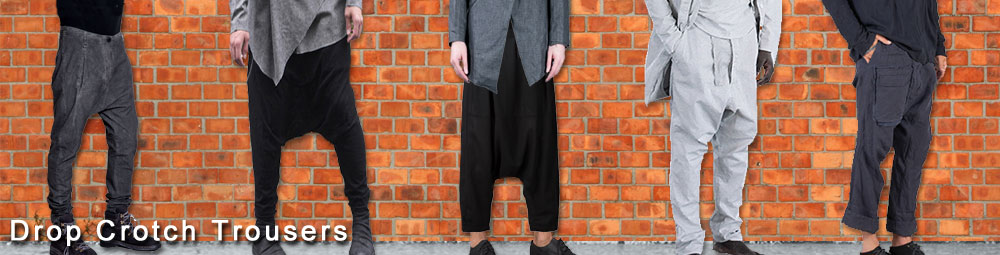 fashion trends for men drop crotch trousers
